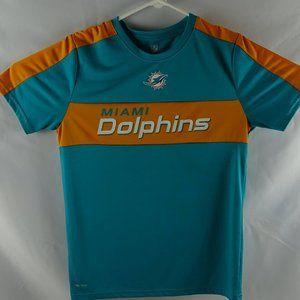 Miami Dolphins Boys Large 14-16 Dri-Tek T-Shirt